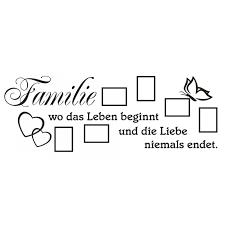Wandtattoo Spruch Familie Leben Liebe Bilderrahmen Foto Wandsticker