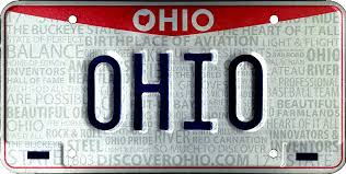 vehicle registration plates of ohio