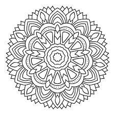 Vector Mandala Kleurplaat Geïsoleerd Op Wit Premium Clipart