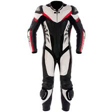 monos de moto 1pc ke 4race rac blanco rojo