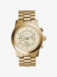 runway oversized gold tone stainless steel watch michael kors runway oversized gold tone stainless steel watch