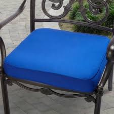 indoor outdoor 20 chair cushion with sunbrella fabric solid bright blue outdoor chair cushions best blue