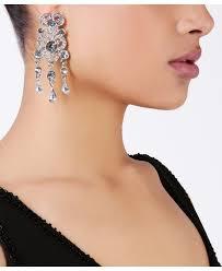 diamante tassel chandelier earrings