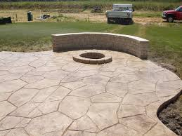 image of stamped concrete patio designs
