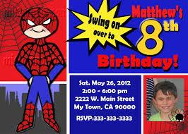 Spiderman Birthday Invitation Templates Free Spiderman Invites Templates