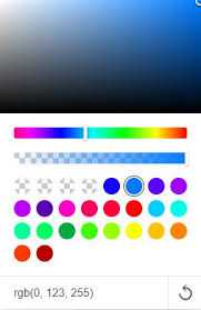 Color Picker Colors Just Coming Up As Transparent Support