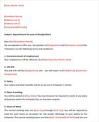 36 Simple Offer Letter Templates Free Premium Templates