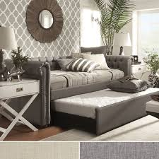 home office repin image sofa wall. tribecca home knightsbridge tufted scroll arm chesterfield daybed with trundle overstock shopping great deals home office repin image sofa wall p