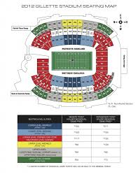 Gillette Seating Chart The Most Incredible Patriots Seating Chart Seating Chart