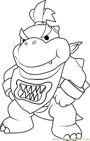 Small Picture Bowser Jr Coloring Page Free Super Mario Coloring Pages