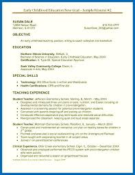 Objective For Resume Education Resume Sample For Early Childhood ...