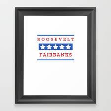 theodore roosevelt charles fairbanks president gift for history buffs framed art print