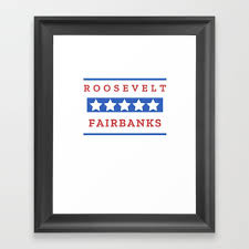 theodore roosevelt charles fairbanks president gift for history buffs framed art print