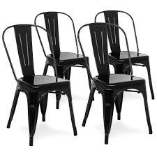 Home 2 Pillars Church Sheridan St Metal Dining Chairs Black