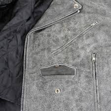xelement b7149 classic mens distressed gray leather jacket with pockets com