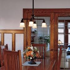 craftsman style lighting dining room oak parka four light chandelier lighting dining room in