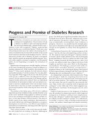 progress and promise of diabetes research endocrinology jama  first page pdf preview