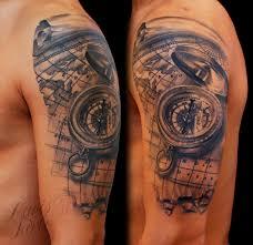 наколка с компасом эскизы тату компас Tattoohacom тату компас и