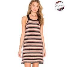 Free People Retro Ruby Stripe Crochet Dress
