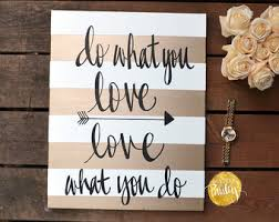 office artwork canvas. inspirational canvas wall art painting gold and white stripe love what you do office studio artwork h