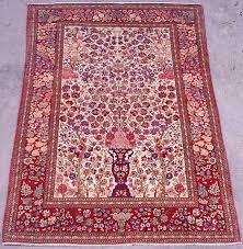 kashan rugs kaschan vase rug 1st q 20th c