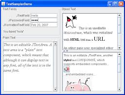 How to Use Editor Panes and Text Panes (The Java™ Tutorials ...