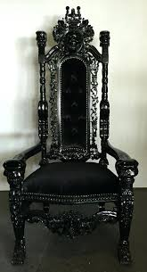 custom throne chair black skeleton king chair queen throne high back chair custom made throne chairs custom throne chair gany king
