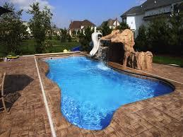 inground pools with waterfalls and slides. Home Swimming, Price Of Inground Swimming Pool Cost Estimator Abstract Shape Pools With Waterfalls And Slides O