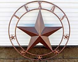 40 texas barn star lone star with twisted rope ring design western metal wall art home decor vintage rustic dark bronze new on texas star metal wall art with texas star decor etsy