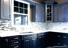 kitchen with dark cabinets for white tile subway backsplash ideas oak and countertops