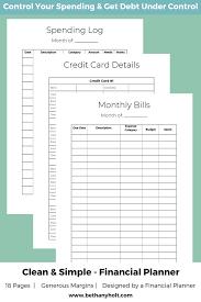 Monthly Finance Planner Financial Planner Budget Planner Finance Planner Budget Printable