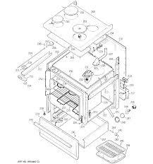 Jb552gk1 electric range body parts diagram