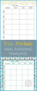 Free Printable Meal Plan Template Meal Prep Planner Template Lexu Tk