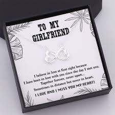 Tiny Nl3045 To My Girlfriend I Love And I Miss You My Heart Infinity Heart Necklace