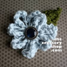 Knitted Flower Pattern Classy The Createry Shop Easy Elegant Flower To Knit Not Crochet Free