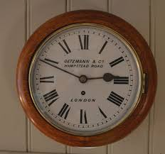 light oak 10 inch dial clock