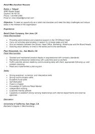 Sample Resumes Retail Retail Merchandiser Resume Sample Best Letter