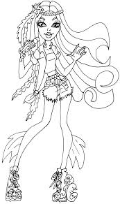 Small Picture Coloring Pages All About Monster High Dolls Baby Monster High