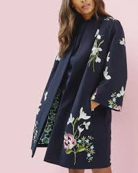 Designer Spring Coats Spring Meadows Kimono Jacket Dark Blue Jackets Amp