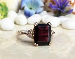 <b>Red garnet ring</b> | Etsy