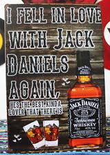 jack daniels advert fell in love jack daniels metal tin sign wall deco bar pub tavern advert