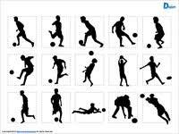 サッカーのシルエットイラスト画像 パワーポイントフリー素材のdigipot