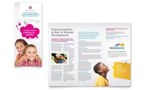 tri fold school brochure template speech therapy education tri fold brochure template word publisher