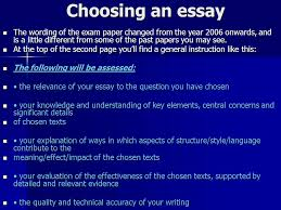 the critical essay ppt video online  choosing an essay