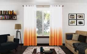 Orange Curtains Living Room Trendy Ombre Curtains In Cold Warm And Neutral Hues