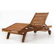 teak chaise lounge chair