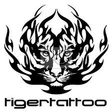 Obraz Vektorové Ilustrace Tetování Tygr