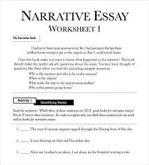 Personal Narrative College Essay Examples Narrative Essay Outline Worksheet In Pdf Narrative Essay