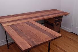 wooden office desk simple. Ideas Reclaimed Wood L Shaped Desk Wooden Office Simple I