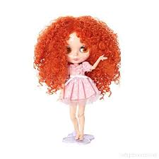 Blythe Doll Size Chart Fantasy Wig Hairpiece Curly Hair For 12 Blythe Doll Diy